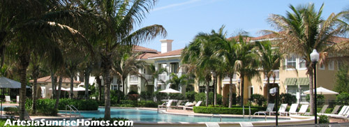 Feel like you are on vacation every weekend at Artesia - your residential resort community located in sunny Sunrise, FL.