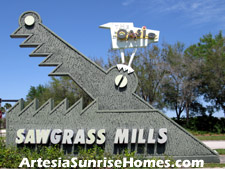 A great deal is just around the corner at Sunrise's famous Sawgrass Mills outlet mall.