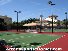 Lighted tennis courts are located behind Artesia's clubhouse adjacent to the pool area. You are sure to find plenty of tennis partners in this vibrant community.